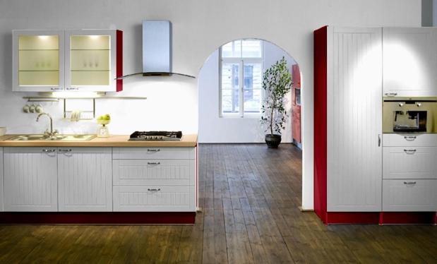 Dwie wersje kuchni z białymi meblami  Kuchnia -> Biala Kuchnia A Kolor Ścian